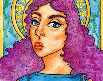 "Original Watercolor 5x7"" - Magdalena"