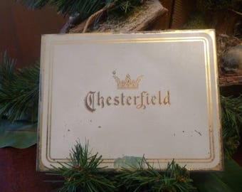 Vintage Chesterfield Cigarette Tin   (T)