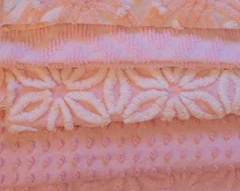 Vintage Chenille Bedspread Six Fat Quarters Quilt Kit Hoffman Daisy Cabin Crafts