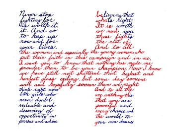 Hillary - Fine Art Print Postcard - Women Throughout History - Postcard by Bonnie Fillenwarth