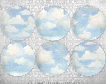 Blue skies melamine dinnerware