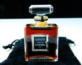 Vintage CHANEL Coco Pure Perfume 1/4 oz ( 7.5 ml) Full Bottle First Generation Fragrance Perfect
