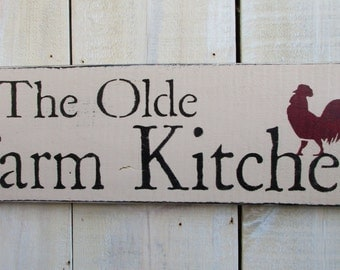 Handmade Wood Sign - Farm Kitchen