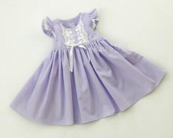 Easter Dresses, Little Girl Dresses, Heirloom Dresses, Little Girls Dress, Lavender Dress, Vintage Style Dress, Purple Easter Dress