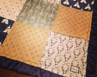 Buck Teepee Arrow Blanket