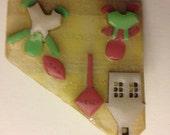 Vintage Lucinda pin, children, OOK, handcrafted,