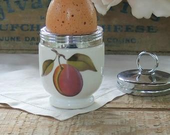 Royal Worcester Egg Coddler Evesham Pattern, Lidded Egg Cup