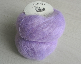 Yarn DESTASH Super kid mohair Kid Mohair yarn Made in Italy Luxurious yarns Light lilac yarn ON SALE kid mohair Clearance