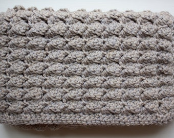 Crocheted Baby Blanket in Tan