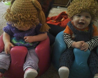 Crochet Custom Cabbage Patch Doll Inspired Hat