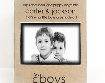 My boys picture frame, mom gift from boys, mom gift from kids, that's what boys are made of, brothers Picture Frame, Mother's Day gifts 4x6