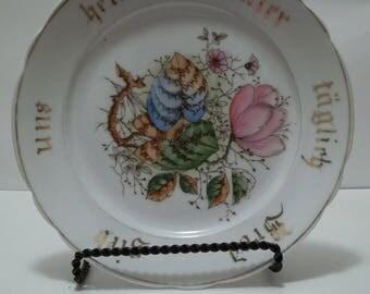 Antique German Floral Plate