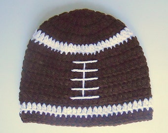 9 Month To 2 Years Old Baby Boy Brown Football Hat With White Stripes 1 Year Old Infant Girl Fall Beanie 18 Month Toddler Winter Sports Cap