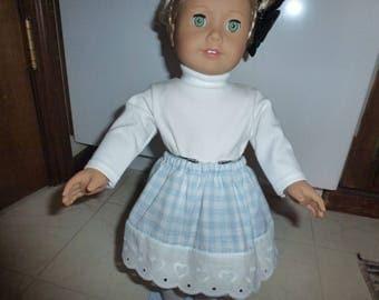 "18"" Doll Skirt  Fits American Girl, Madame Alexander and Gotz Dolls"