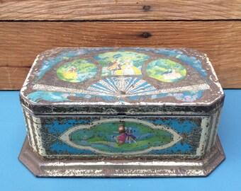 Antique Chocolate Tin
