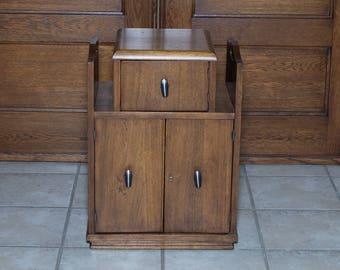 Humidor | Art Deco Humidor | Copper Lined Humidor Table | Walnut Humidor