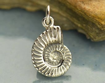 Sterling Silver Nautilus Shell Charm