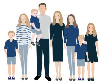 Additional person for a Custom Family Portrait