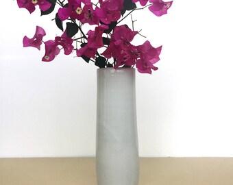 Tall white ceramic vase, minimal