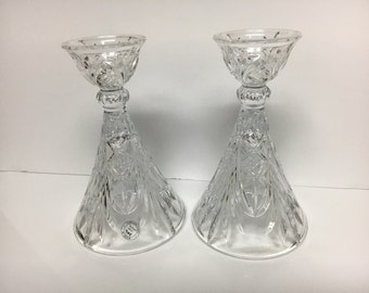 Glass Candle Holders 24% Lead Crystal