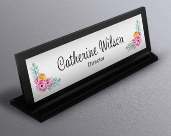 Desk Name Plate, Corporate Gift, Work Decor,  Personalized Name Tag, Unique Desk Plate, Wedding gift, coworker gift,  Realtor Closing Gift
