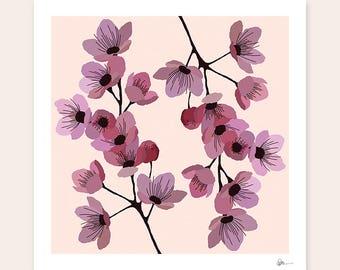 Art Print - Linternas, Floral Print