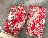 Pink mittens fingerless gloves