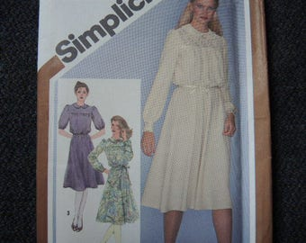 Vintage 1980s Simplicity sewing pattern 9767 misses pullover dress uncut size 12