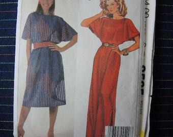 vintage 1980s McCalls sewing pattern 9505 misses pullover dress size 14-16