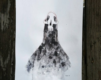 Ghost if the second floor - Print of my original illustration