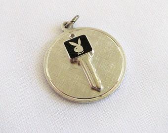 Vintage Sterling Silver Charm Playboy Key Club - Playboy Bunny Logo Charm/Small Pendant