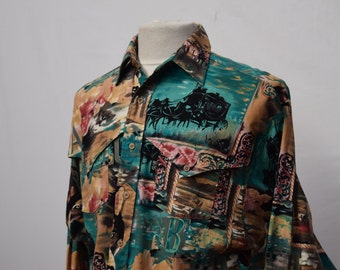 Mens colourful mix print Shirt