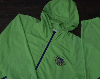 Neon 80s Windbreaker Jacket