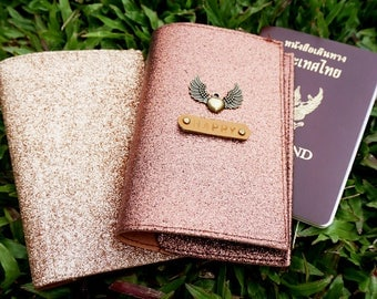 personalized passport holder, passport holder, glitter passport holder, passport cover, family passport holder, leather passport holder