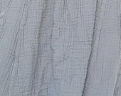 RESERVED For Shirin.........NO.19 Dusty Gray Cotton Gauze Tunic Top Pleated Front Long Top, Tank Top
