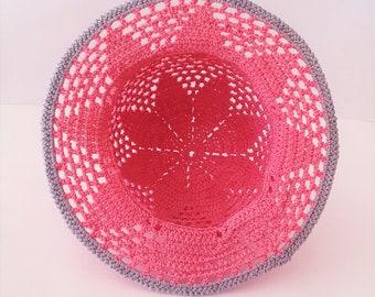 Hand crocheted Child's hat Cloche Summer Star Easter bonnet