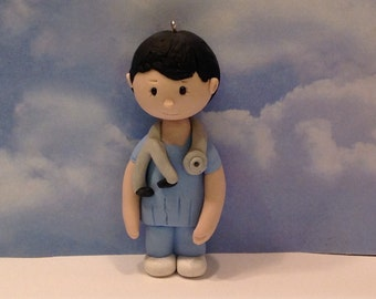 Polymer clay Nurse magnets,ornaments,collector's item,handmade,Christmas gifts,Doctor,Nurse,Plebotomist,Dentist,Figurines