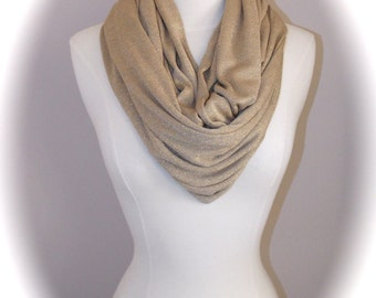 Gold infinity scarf/glitter infinity scarf