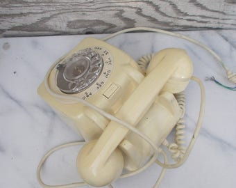Classic Vintage 1970's Dial Telephones with Bell Ring
