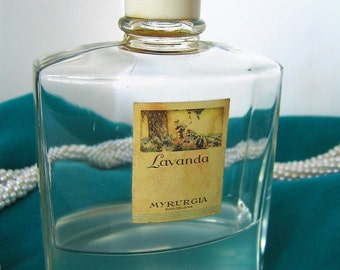 MYRURGIA LAVANDA FACTICE  Display or Dummy Perfume Bottle Barcelona Spain Vintage Collectible Bottle 1916 Launch