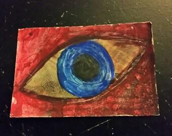 Artist trading card blue eye