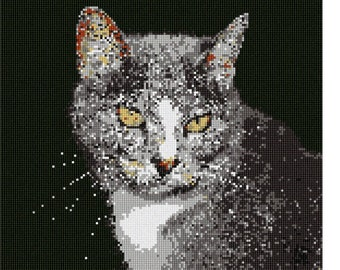 Needlepoint Kit or Canvas: Cat With Whiskers