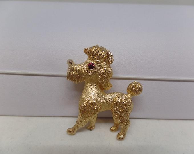 CHRISTIAN DIOR Signed Vintage Poodle Brooch