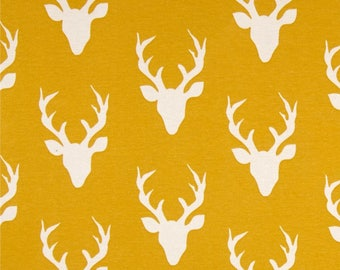 NEW Large Mustard Deer Baby Swaddle Blanket || Stretchy Fabric || New Baby || Extra Roomy