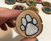 pawprint magnet 1.5 inches