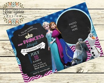 ELSA from Frozen BIRTHDAY INVITATION - Birthday Party Invitation - Digital File - Fully Customized - Anna and Elsa - Bday Digital File