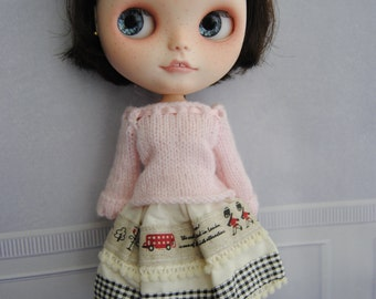 Blythe Dress By Blythe in Wonderland,  Special Outfit One hand made  for blythe or similar dolls