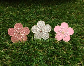 Sakura Cherry Blossom flower pin Japanese
