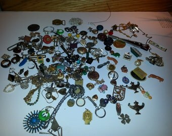 Destash craft lot vintage jewelry steampunk 50-60s
