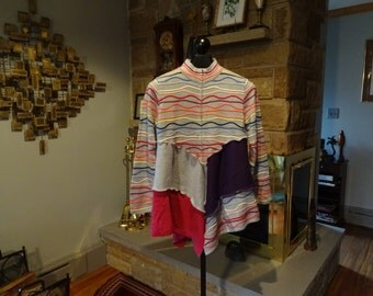 Upcycled Coldwater Creek Sweater Tunic Top size Medium